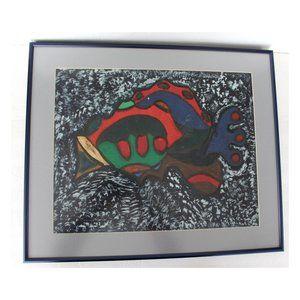 Other - Original Painting Fish Tunji Idowu African Style